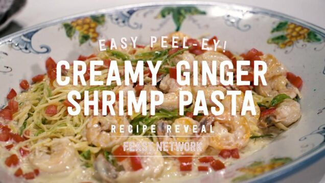 Creamy Ginger Shrimp Pasta