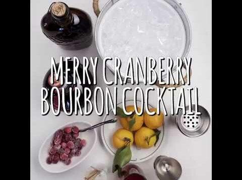 Merry Cranberry Bourbon Cocktail