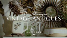 Vintage Pieces for Unique Table Design